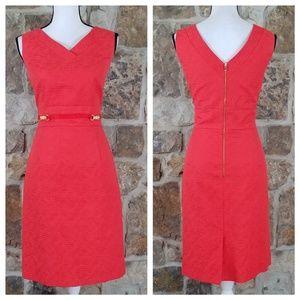 Tahari ASL 10 Textured Sheath Dress